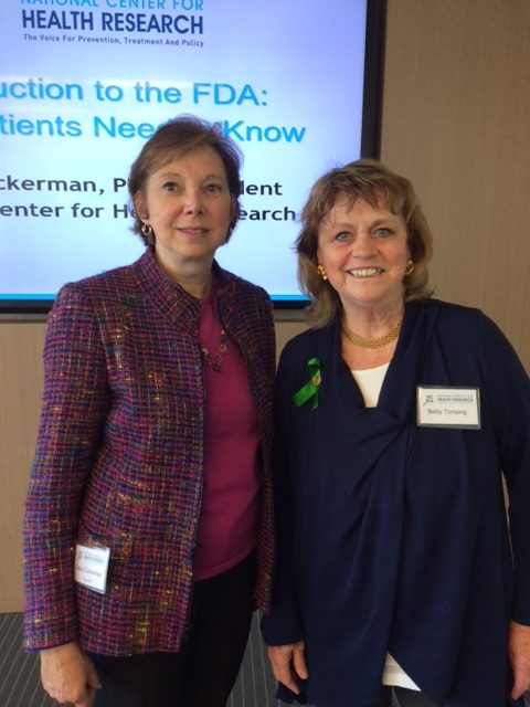 With Dr. Diana Zuckerman,  and CEO of National Center for Health Research